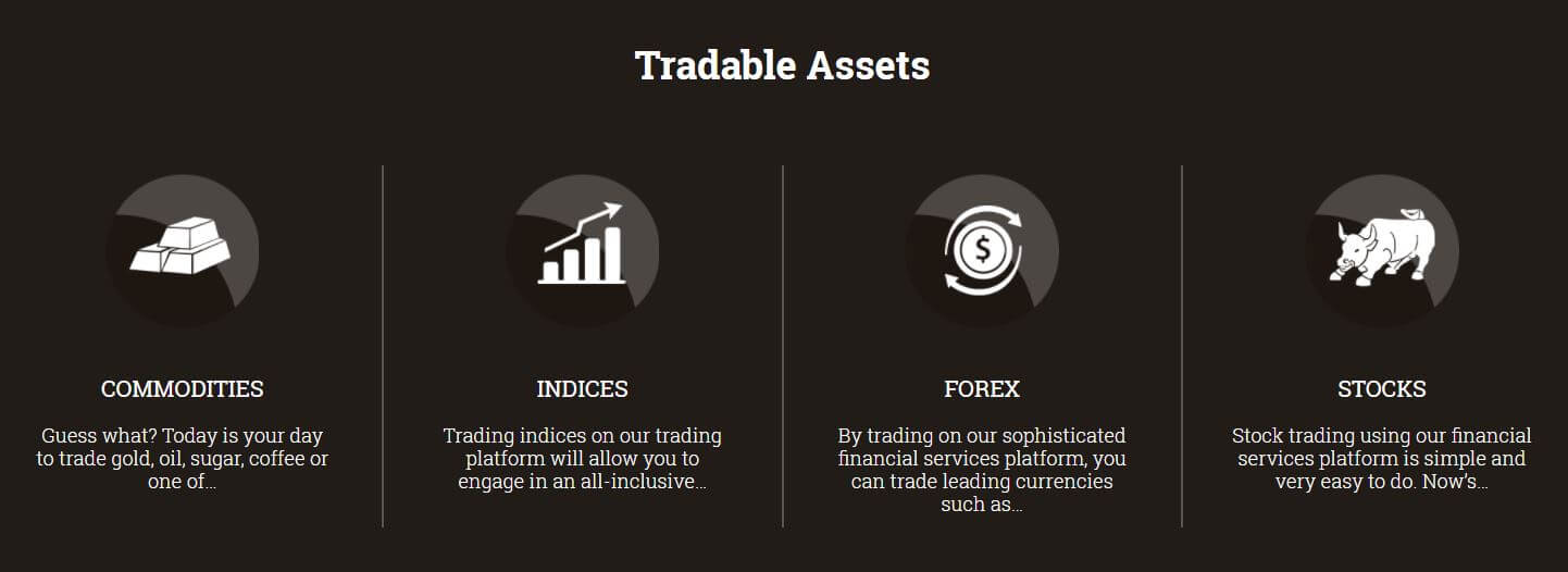 PrimeCFDs Trading Assets